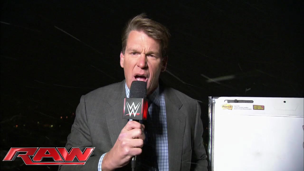 JBL gives a weather report from the roof of WWE Headquarters ...