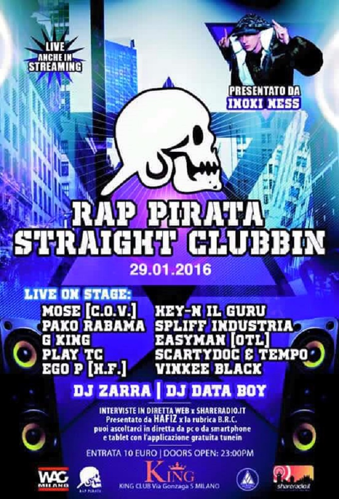 Rap Pirata Stranight manifesto