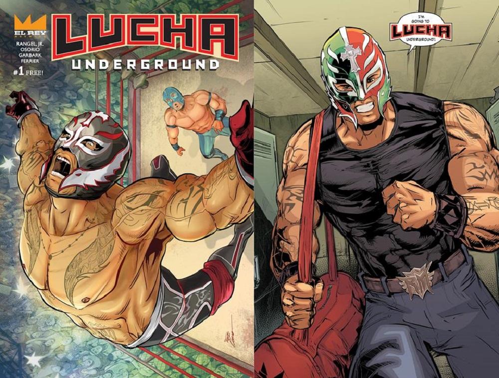 Rey Mysterio Lucha Comic