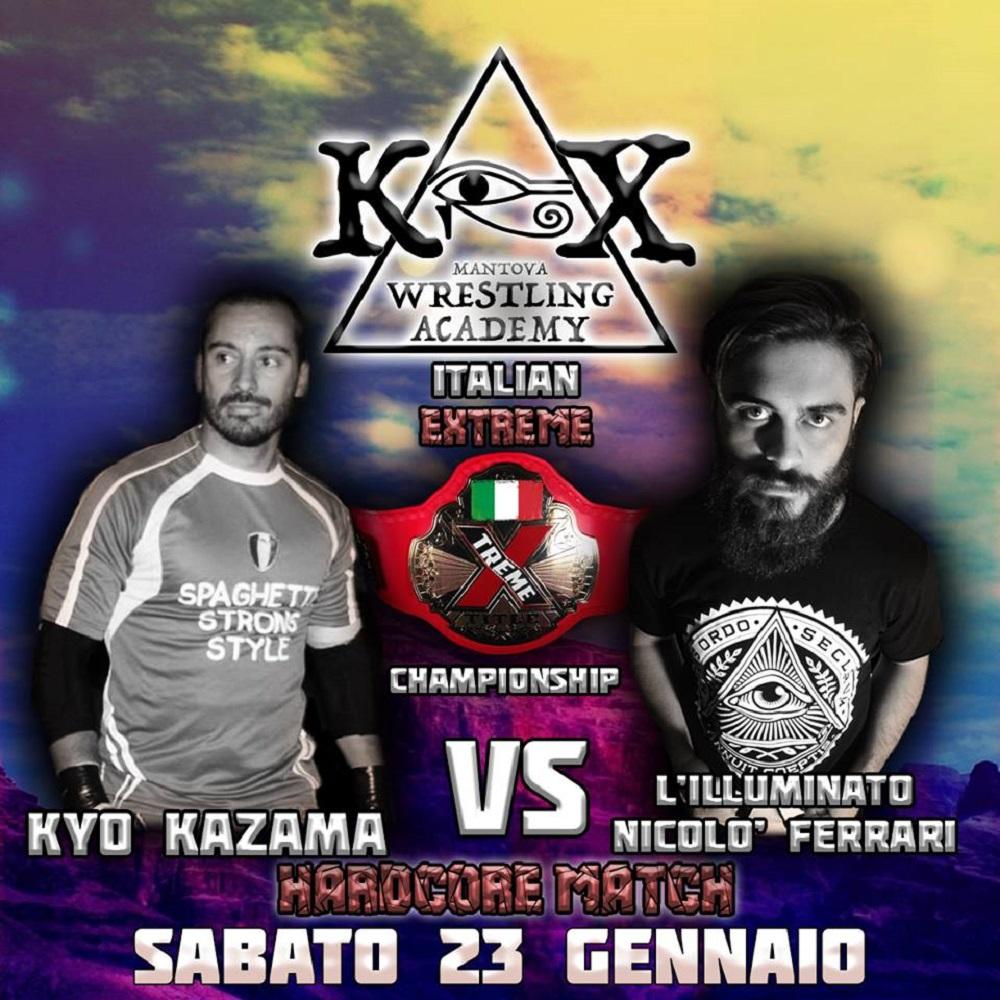 Wrestling KOX Titolo Italiano Xtreme Kazama Vs Ferrari
