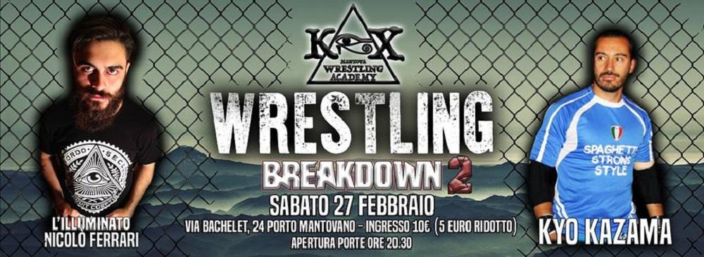 Wrestling KOX Kazama Vs Ferrari Cage Match