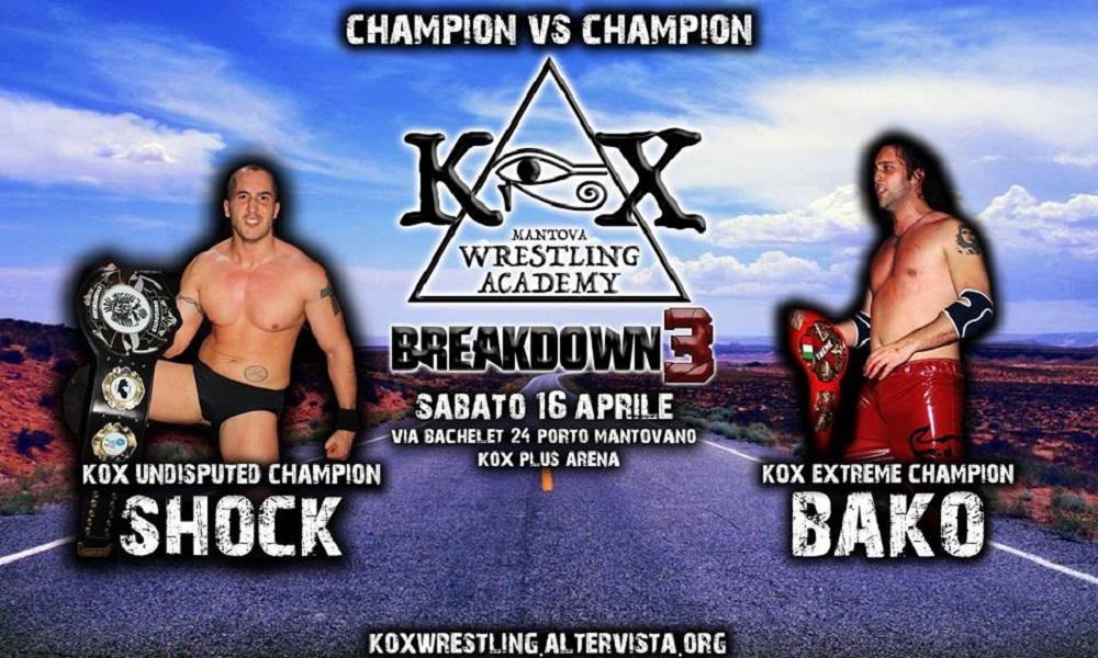 KOX Breakdown3 Shock Vs Bako
