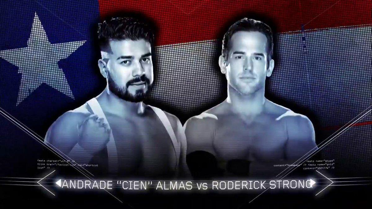Andrade Cien Almas vs. Roderick Strong