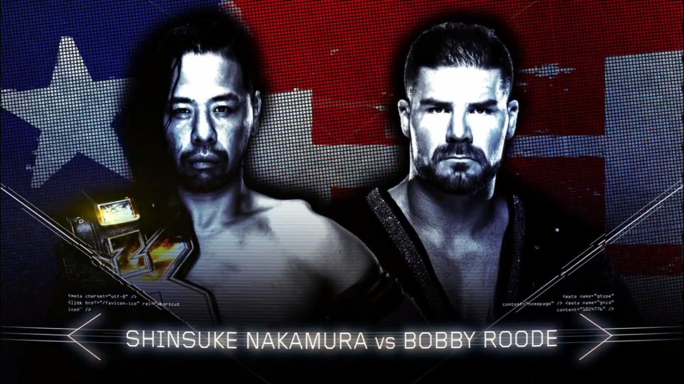 Shinsuke Nakamura vs. Bobby Roode