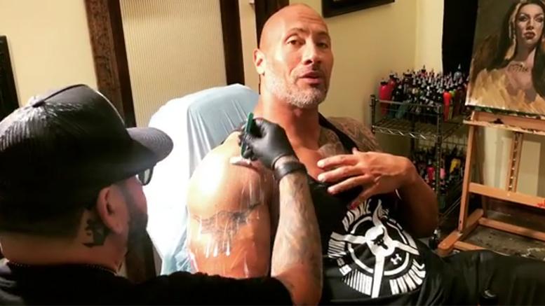 FOTO Niente più toro per The Rock, copre il suo mitico tatuaggio