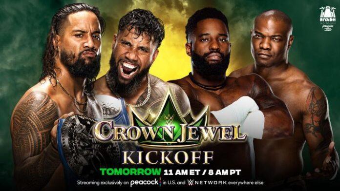 WWE: La Bloodline parte bene, gli Usos trionfano nel kick off di Crown Jewel